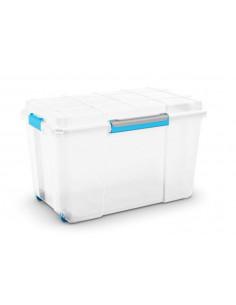 KIS Boîte de rangement plastique SCUBA BOX XL Transparent/Bleu/Gris 44,5 x 73,5 x 46 cm 110L