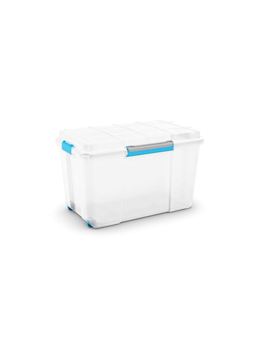 Boite Rangement Hermétique Cave kis boîte de rangement plastique scuba box xl transparent/bleu/gris 44,5 x  73,5 x 46 cm 110l