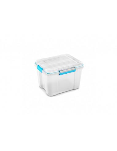 KIS Boîte de rangement plastique SCUBA BOX M Transparent/Bleu/Gris 39 x 49,5 x 34 cm 45L