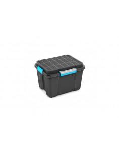 KIS Boîte de rangement plastique SCUBA BOX M Noir/Bleu 39 x 49,5 x 34 cm 45L