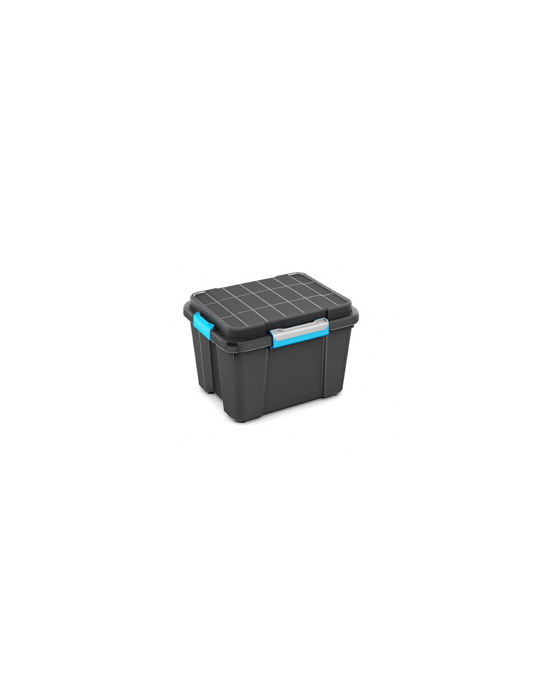 Boite Rangement Hermétique Cave kis boîte de rangement plastique scuba box m noir/bleu 39 x 49,5 x 34 cm 45l