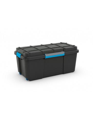KIS Boîte de rangement plastique SCUBA BOX L Noir/Bleu 39,5 x 78 x 35 cm 80L