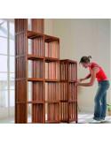 Étagère 5 tablettes eucalyptus 361 x 320 x 1500 mm