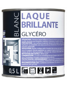RECA Peinture Glycéro Laque Blanc Brillant 0,5L - 1er Prix