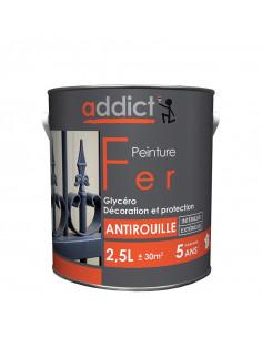 RECA Peinture Fer ADDICT Noir Mat 2,5 L