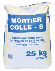 Mortier Colle S Gris Pour carrelage pour sols intérieurs et extérieurs Sac 25 kg