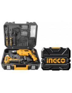 INGCO HKTHP11071 Duo Perceuse-visseuse sans-fil 12V + Visseuse à choc 107 pcs