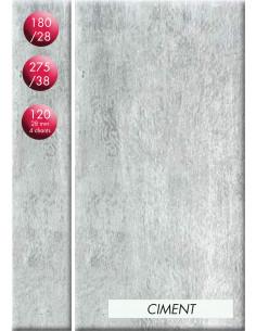 SUPBOIS Plan de travail Stratifié CPL Hydrofuge Finition Standard Ciment 180 x 64 cm Ep. 28 mm