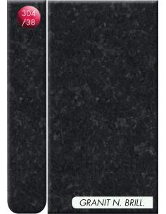 Plan de travail Stratifié 3040x645x38mm noir brillant