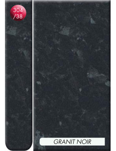 Plan de travail HPL 3040x645x38mm granit noir
