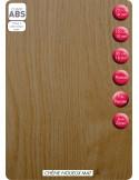 SUPBOIS Tablette mélaminée Chêne Noueux Mat 250 x 60 cm Ep. 18 mm