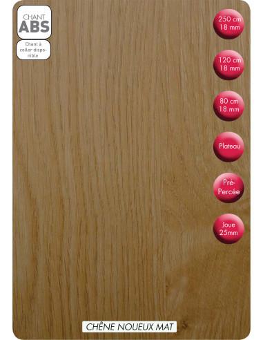 SUPBOIS Tablette mélaminée Chêne Noueux Mat 80 x 20 cm Ep. 18 mm
