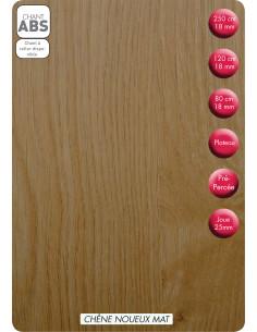 SUPBOIS Tablette Mélaminée Chêne Noueux Mat 120 x 40 cm Ep. 18 mm