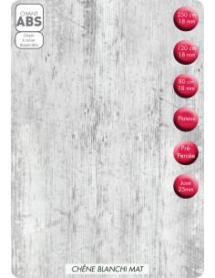 SUPBOIS Tablette Mélaminée Chêne Blanchi Mat 120 x 20 cm Ep. 18 mm