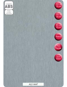 SUPBOIS Tablette Mélaminée Alu Mat 120 x 40 cm Ep. 18 mm
