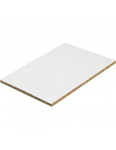 Panneau Mélaminé Hydrofuge Blanc 244 x 120 mm Ep. 18 mm à la découpe, vendu au m²