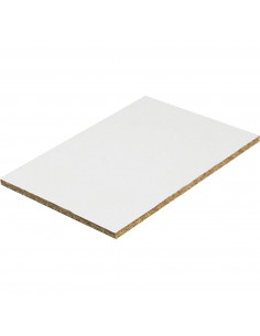 Panneau Mélaminé Hydrofuge Blanc 244 x 120 mm Ep. 15 mm à la découpe, vendu au m²