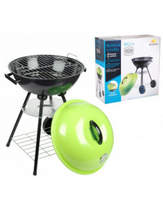 FORNORD Barbecue avec couvercle vert L.47 x l.45 x H.72 cm