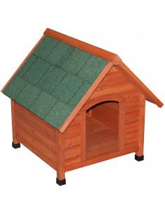 FORNORD Niche pour chien bois L.76 x l.71,5 x H.76,5 cm