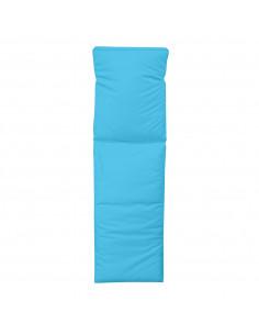 FORNORD Dessus bain de soleil L.185 x l.55 x H.4 cm turquoise polyester