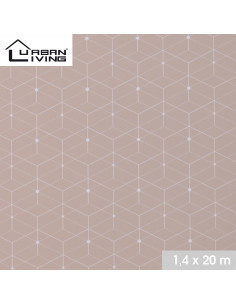 FORNORD Toile cirée decor scandinave taupe 3468 Rouleau l.140 cm x L.20 m à la découpe, prix au mètre linéaire