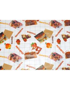 FORNORD Toile cirée décor confiture 3953 Rouleau l.140 cm x L.20 m à la découpe, prix au mètre linéaire