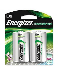 ENERGIZER Pile x2 rechargeable NiMH D