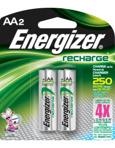ENERGIZER Pile x2 rechargeable NiMH AA