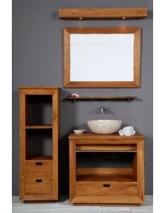 PASCAL JR PILLET Meuble de salle de bain en teck HOURTIN 80 cm