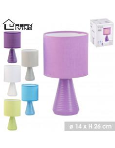 FORNORD Lampe conique céramique Ø.14 x H.26 cm 6 couleurs assorties