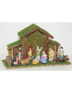 FOMAX Crèche de Noël + 11 santons