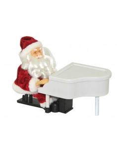 Père Noël pianiste musical L.20,5 cm
