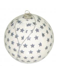 Boule de Noël décorée étoiles Ø 8 cm