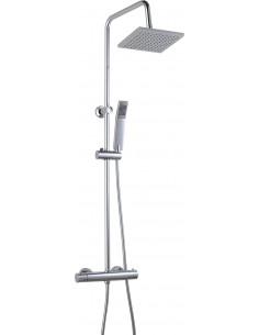 ROUSSEAU Colonne de douche avec robinetterie NESSY CUADRADO Chromé