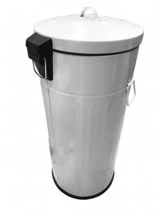 MARKET Poubelle 30L Blanc