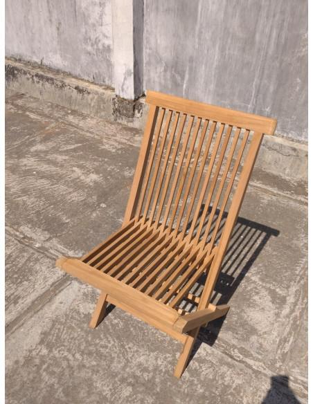 PASCAL JR PILLET Chaise pliante JAVA en teck