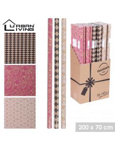 FORNORD Papier cadeau kraft décoré 200 x 70 cm