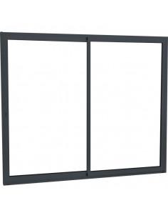 ALU Baie vitrée aluminium L.2600 x H.2150 mm 3 vantaux gris anthracite