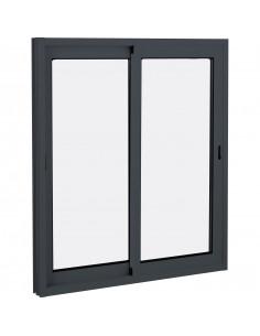 ALU Fenêtre coulissante aluminium L.1400 x H.500 mm gris anthracite