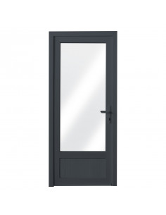 ALU Porte Vitre + Aluminium L.900 x H.2200 mm gauche gris anthracite