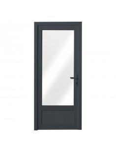 ALU Porte Vitre + Aluminium L.900 x H.2200 mm droite gris anthracite