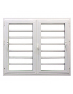 ALU Fenêtre Jalousie Aluminium L.1200 x H.1150 mm