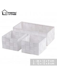 FORNORD LE KAZ Panier de rangement set de 3 pièces blanc