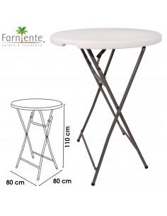 FORNORD RECEPTION Table mange debout pliable Ø.80 x H.110 cm