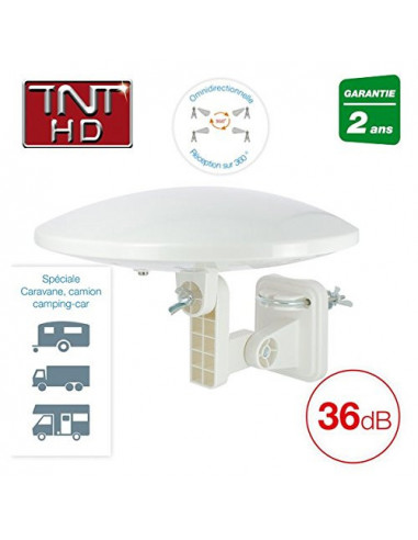 KYOSTAR Antenne TV caravane | Omnidirectionnelle – 36dB