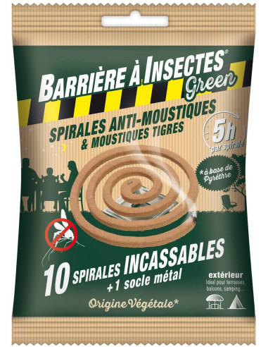 BARRIÈRE À INSECTES® GREEN Spirales...