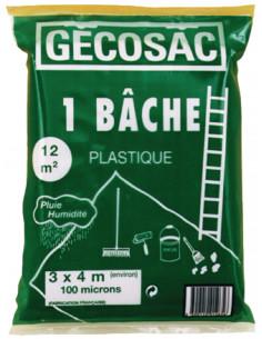 GECOSAC Bâche de protection 3x4m 100microns