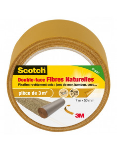 SCOTCH Double-face Fibre Naturelles 7m x 50mm