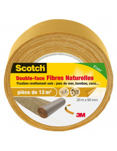 SCOTCH Double-Face Sols Fibre Naturelles 20 m x 50 mm
