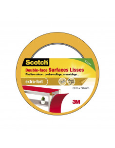 SCOTCH Double-face surfaces lisses 20m x 50mm